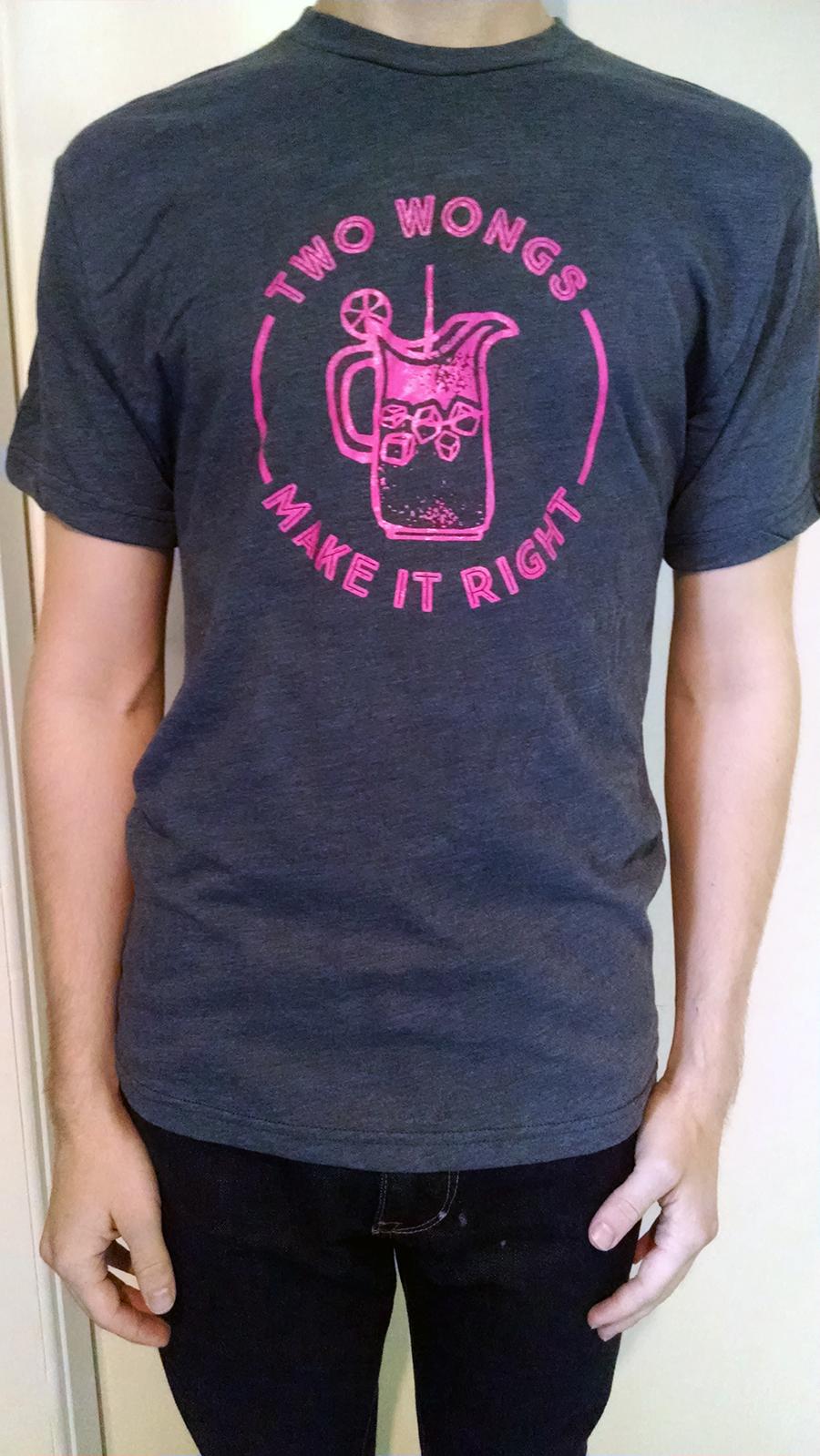 Two Wongs Make it Right T-Shirt, Mens